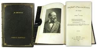 James Garfield Biography in Mourning Binding Presented