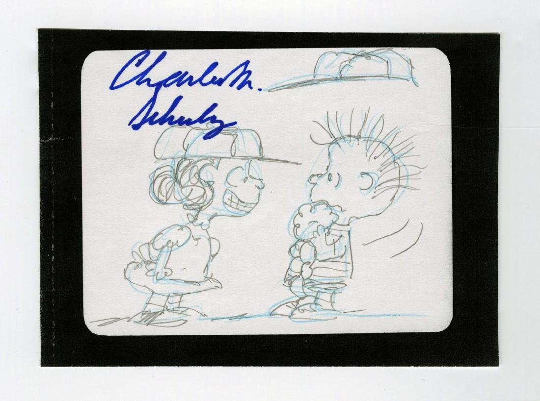 Charles Schulz Signed Highly Detailed Baseball Content