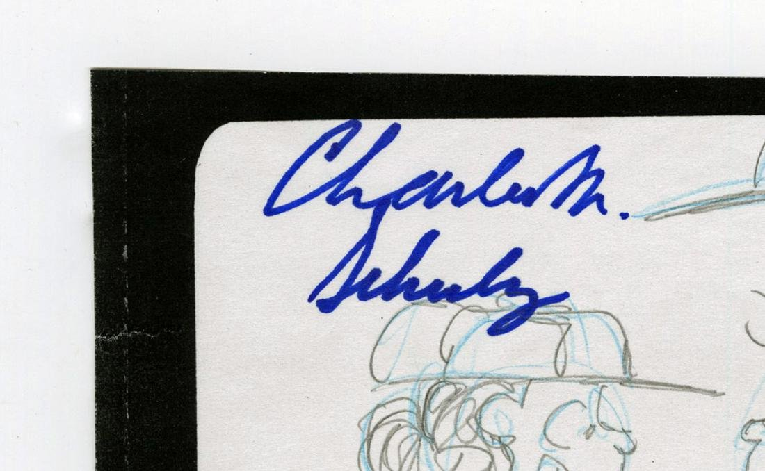 Charles Schulz Signed Highly Detailed Baseball Content - 2