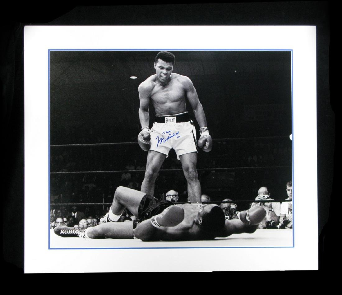 Huge Muhammad Ali Signed Famous Sports Photograph of