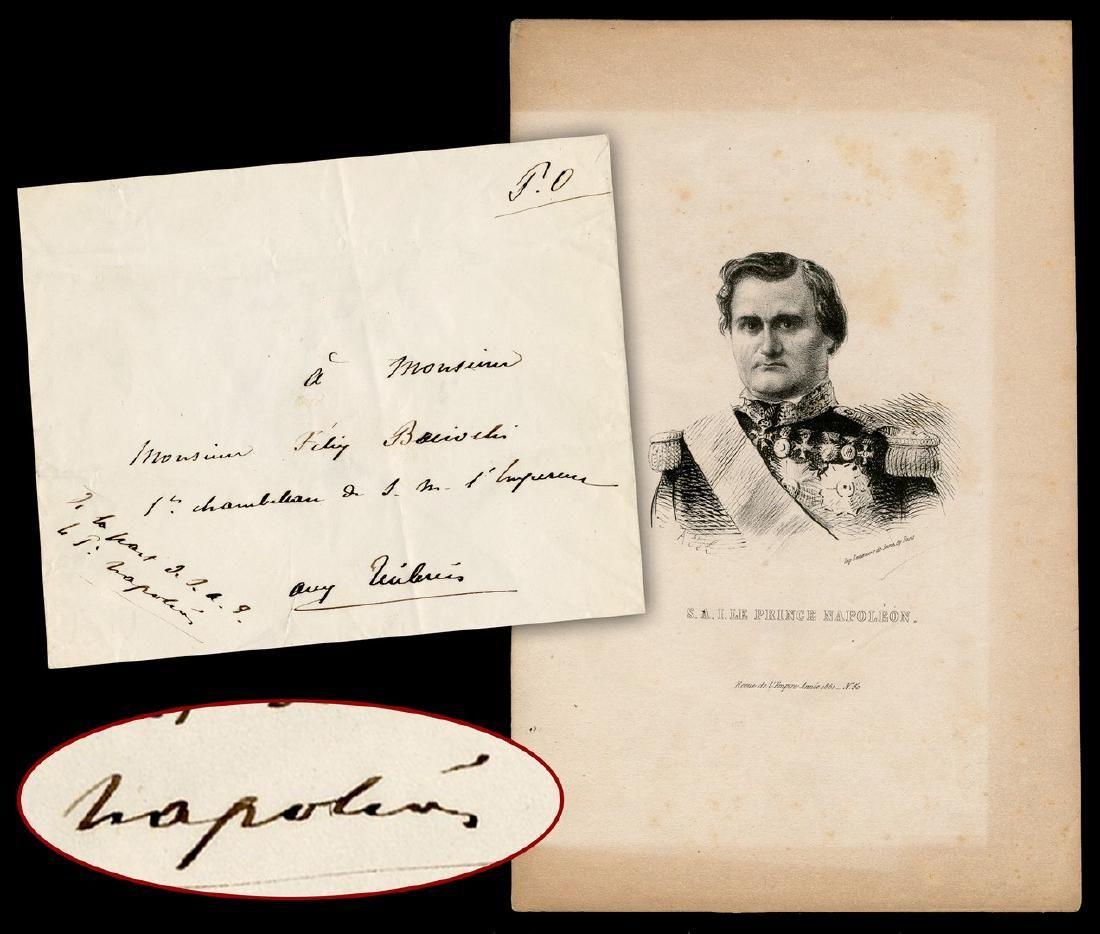 "Napoleon's Nephew ""Prince Napoleon"" Sends an Envelope"
