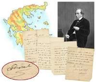 Benjamin Disraeli ALS Regarding Anglo-Greek Bonds and