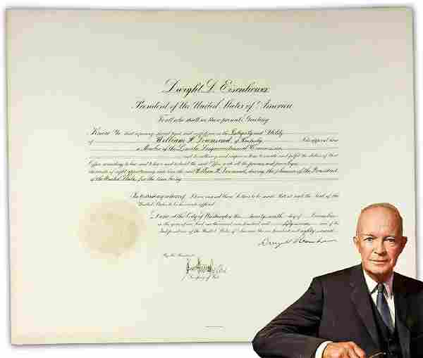 Dwight D. Eisenhower Signed Appointment Abraham Lincoln