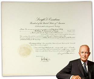 Dwight D Eisenhower Signed Appointment Abraham Lincoln