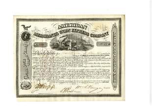 William Fargo Signed American Merchants Union Express