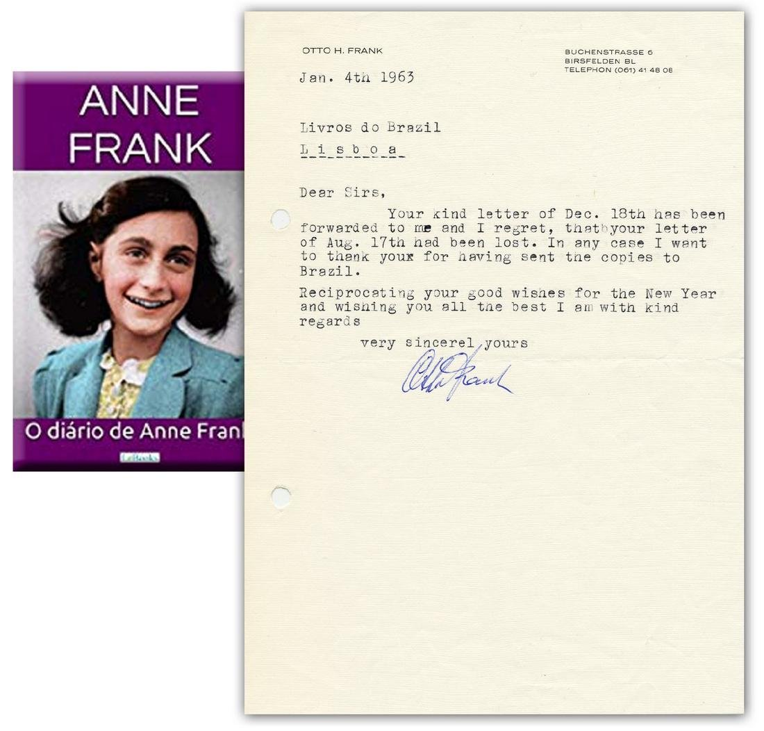 Anne Frank's 'Diary' Published in Portuguese; Father