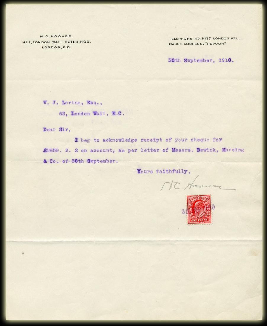 Herbert Hoover TLS Re: Mining Stock Trading
