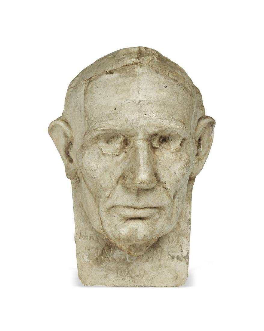 Abraham Lincoln, Leonard Volk Life Mask from Holzer