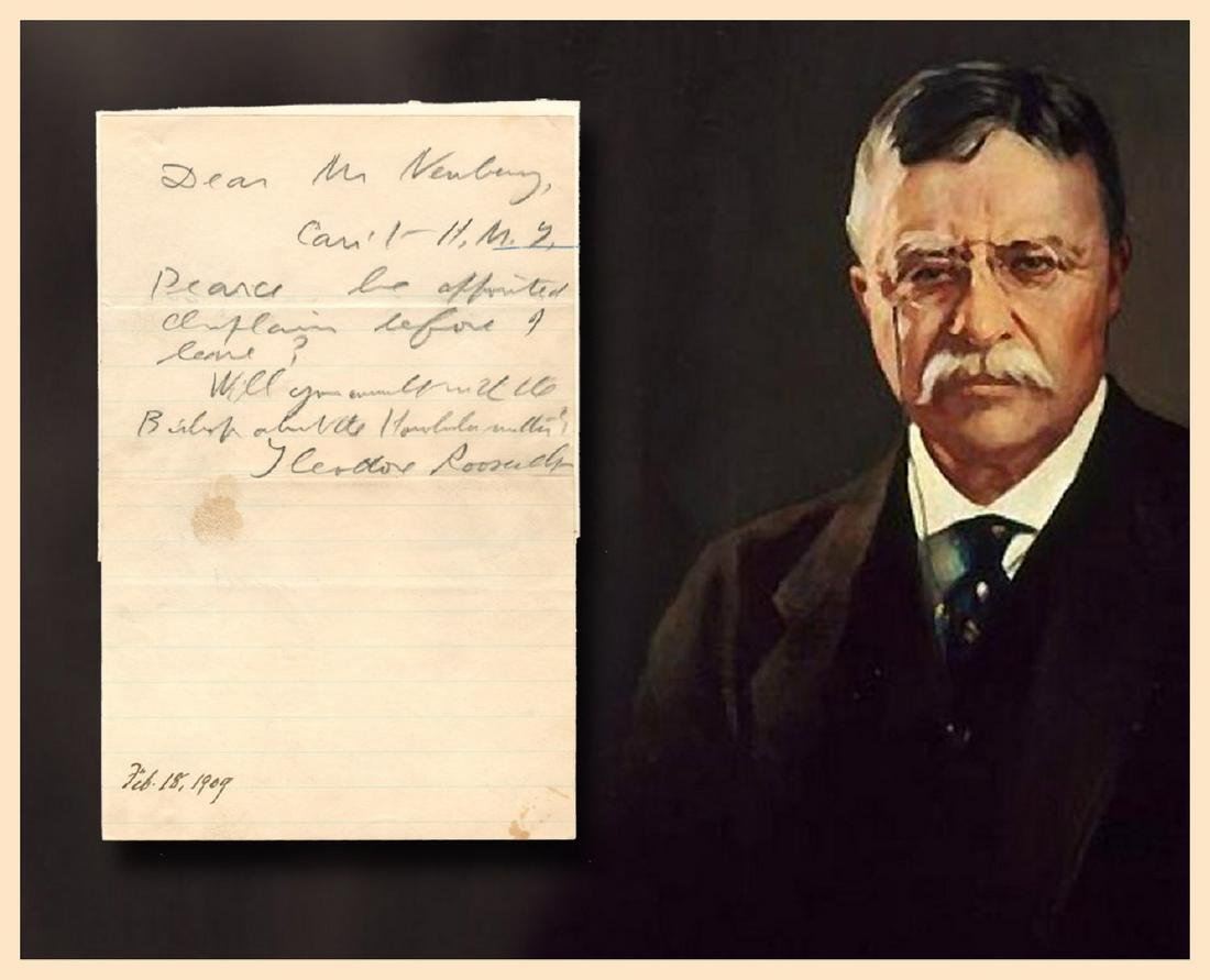 Fabulous Theodore Roosevelt Autograph Letter Signed as