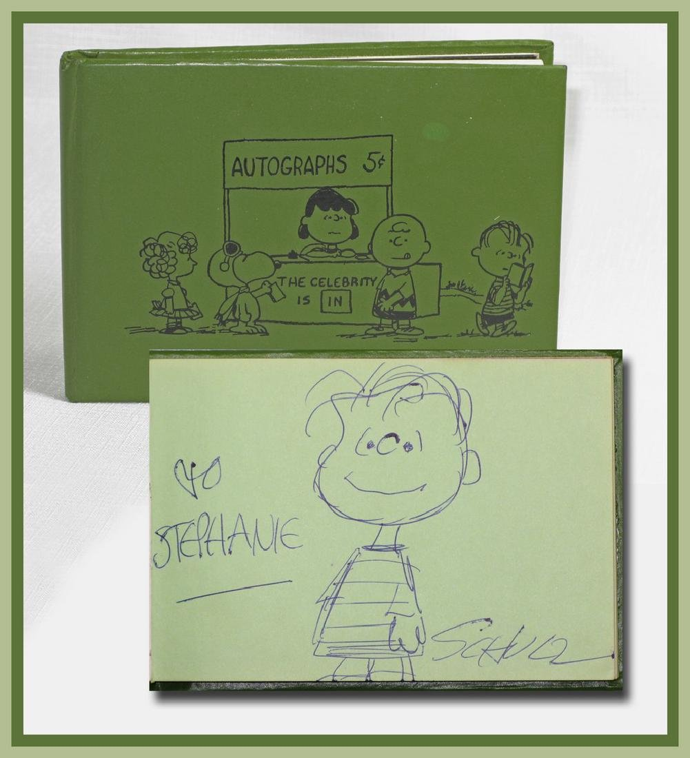 Charles Schulz Signed Drawing of Linus in Official