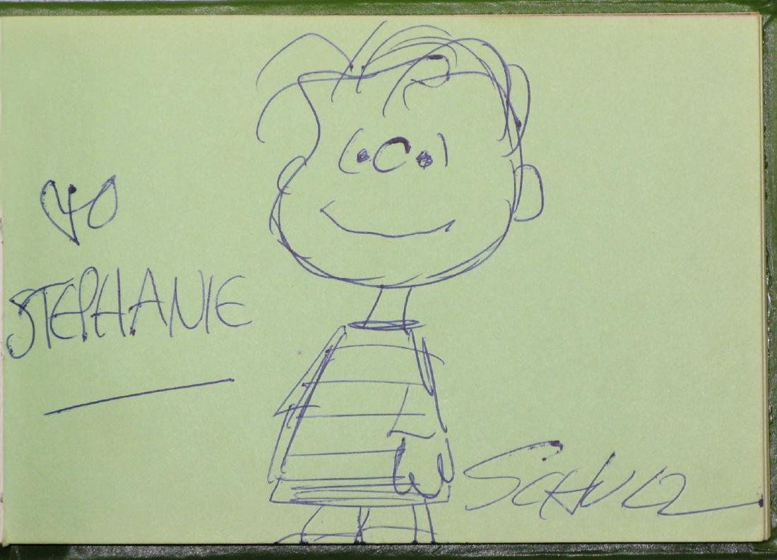 Charles Schulz Signed Drawing of Linus in Official - 2