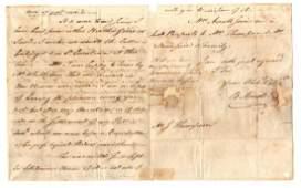 Benedict Arnold. Revolutionary War ALS re British Raid