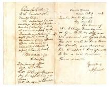 Abraham Lincoln. Rare double-signed ALS & ANS Civil war