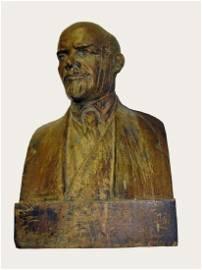 Original Soviet bronze bust of USSR founder Vladimir