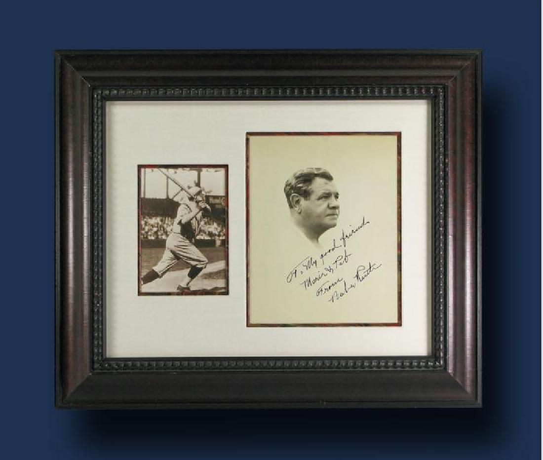 Inscribed signed headshot photograph of Babe Ruth