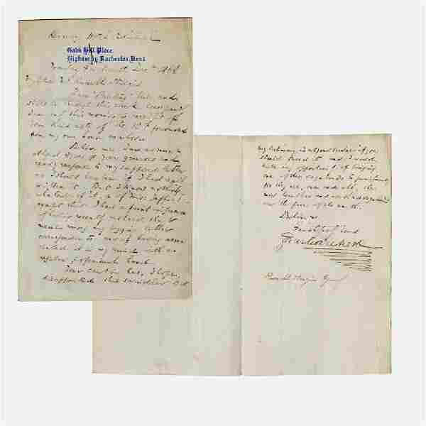 Superb Charles Dickens ALS exposing a forger using his