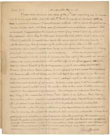 Thomas Jefferson writes Benjamin Rush on his refusal to