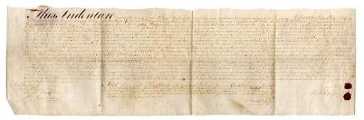 Benjamin Franklin early 1753 signed document granting