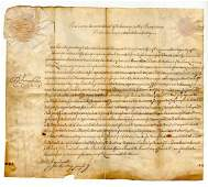 Ben Franklin document dated less than 4 months before