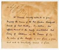 Queen Victoria endorses Benjamin Disraeli's appointment