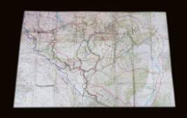 Original map of American occupation zone in post WWI