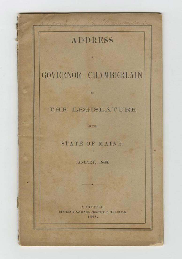 Gov of Maine & Gettysburg hero Joshua Chamberlain signs