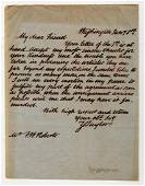 Extremely rare Zachary Taylor Autograph Letter Signed