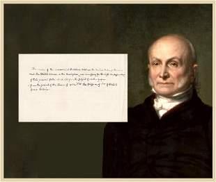 John Quincy Adams Autograph Manuscript Leaf Written