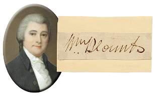 William Blount Constitution Signer Large Signature