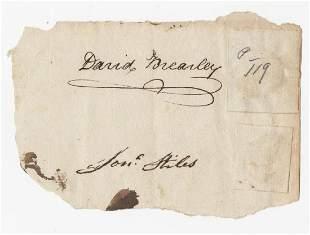 Constitution Signer David Brearley Fantastic Bold