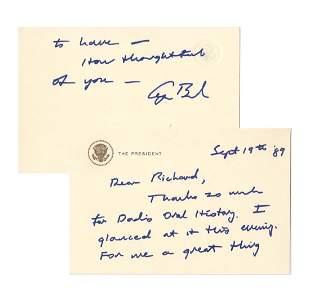 President George HW Bush Thanks Cramer for Dads