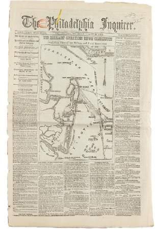 Civil War Newspaper The Philadelphia Inquirer