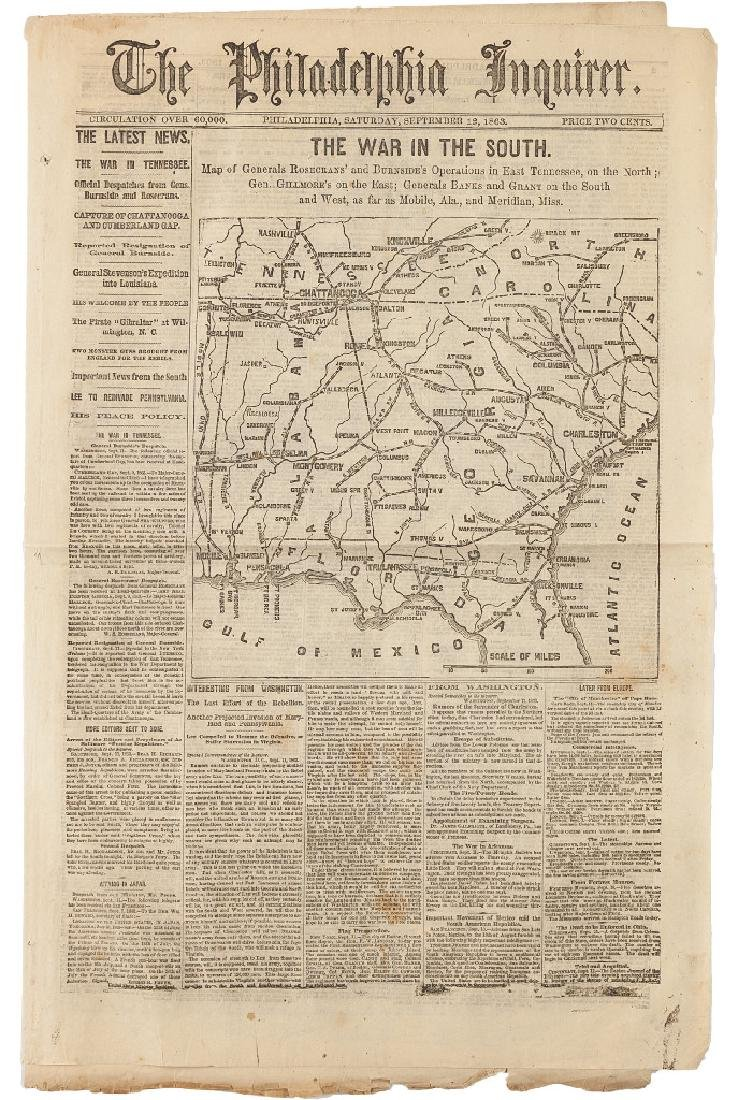 Civil War Newspaper: The Philadelphia Inquirer