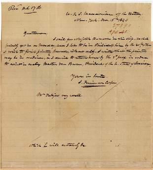 James Fenimore Cooper Announces His Impending Arrival