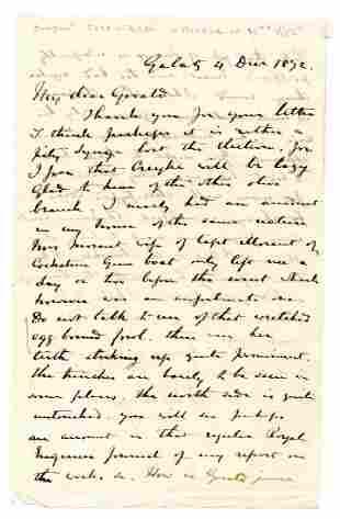 Crimean War 1872 ALS Mentioning British General William
