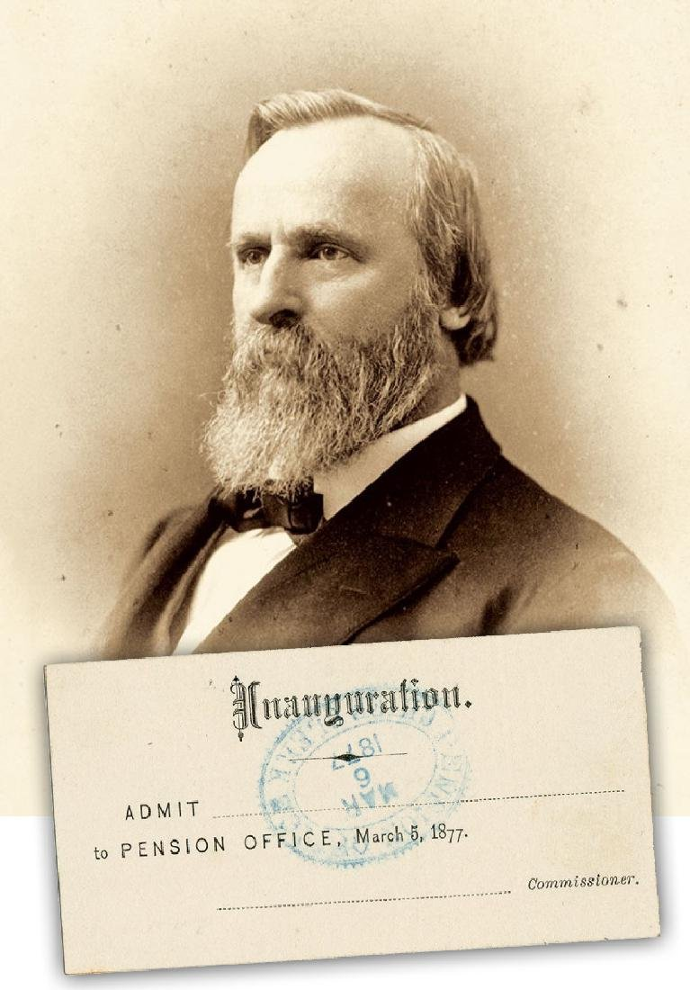 Rutherford B. Hayes Rare Disputed Election Inauguration