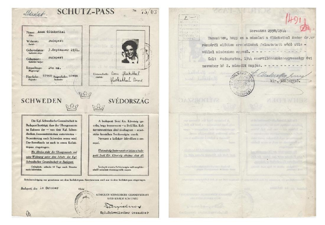 Raoul Wallenberg Schutz-Pass Documentation with