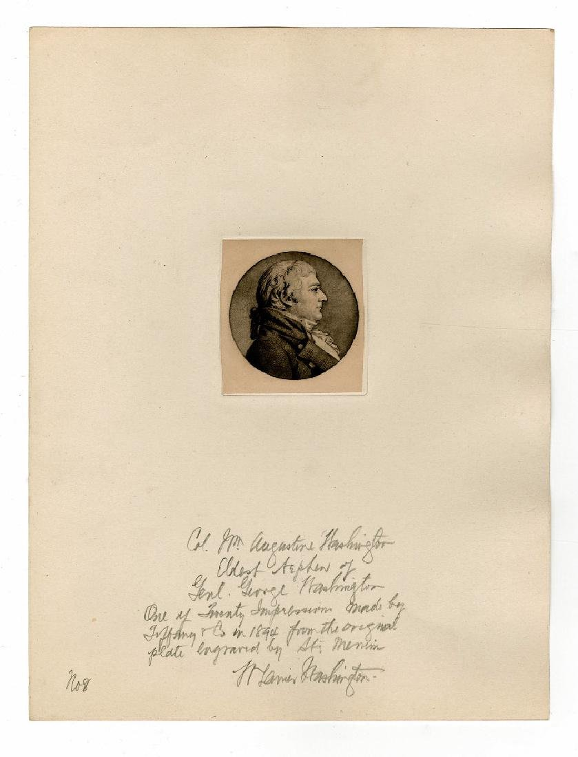 George Washington's Nephew, by St. Memin, Engraved