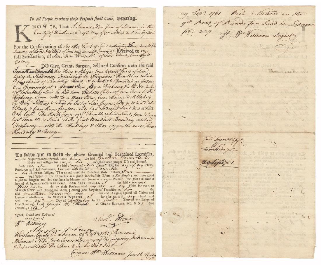 Declaration Signer William Williams, Thrice Signed Land