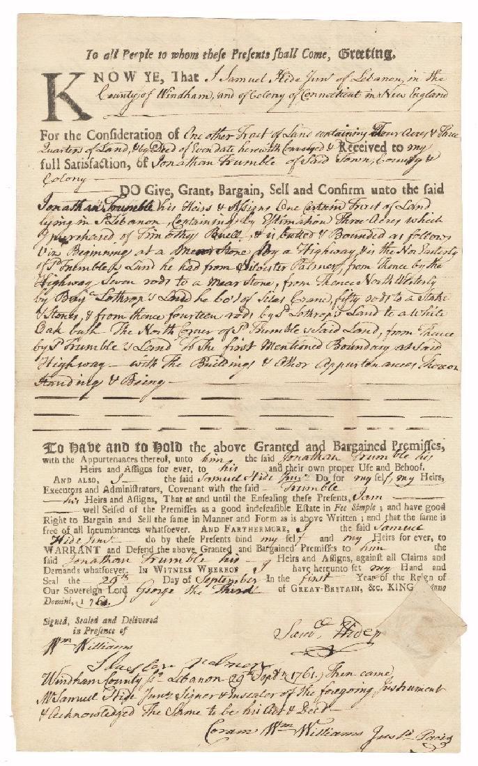 Declaration Signer William Williams, Thrice Signed Land - 2