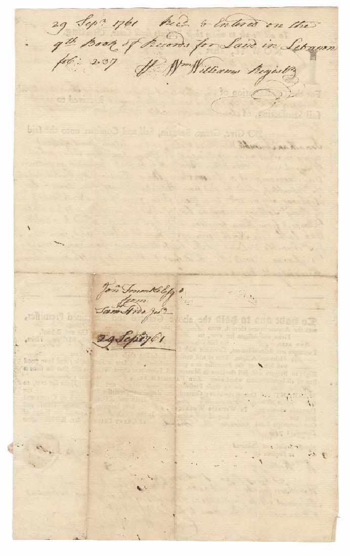 Declaration Signer William Williams, Thrice Signed Land - 4