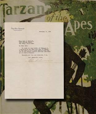 Tarzan Author Edgar Rice Burroughs Delivers Bad News