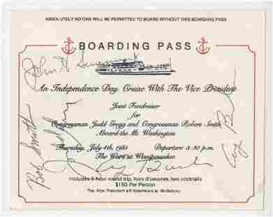 George HW Bush Signed TWICE Independence Day Cruise