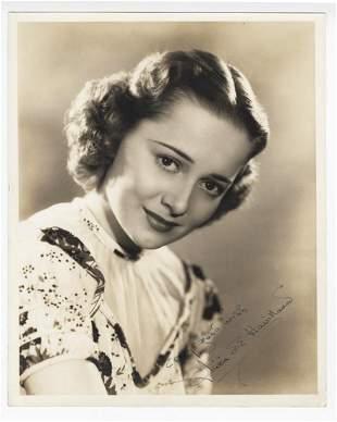 Olivia de Havilland Signed Vintage Glossy Studio Photo