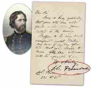 John C Fremont ALS to Civil War Veteran