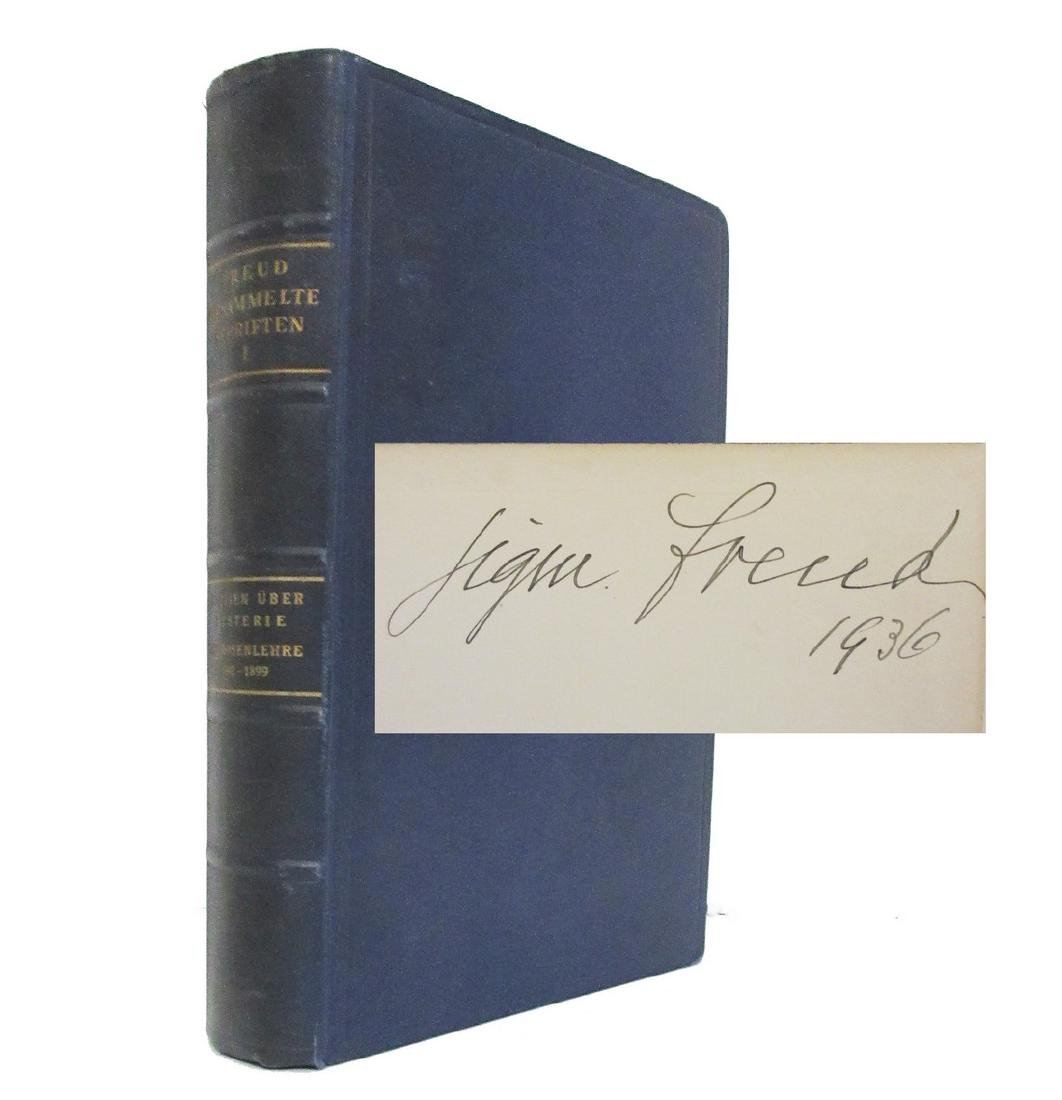Sigmund Freud Signed 1st Printing of His Collected