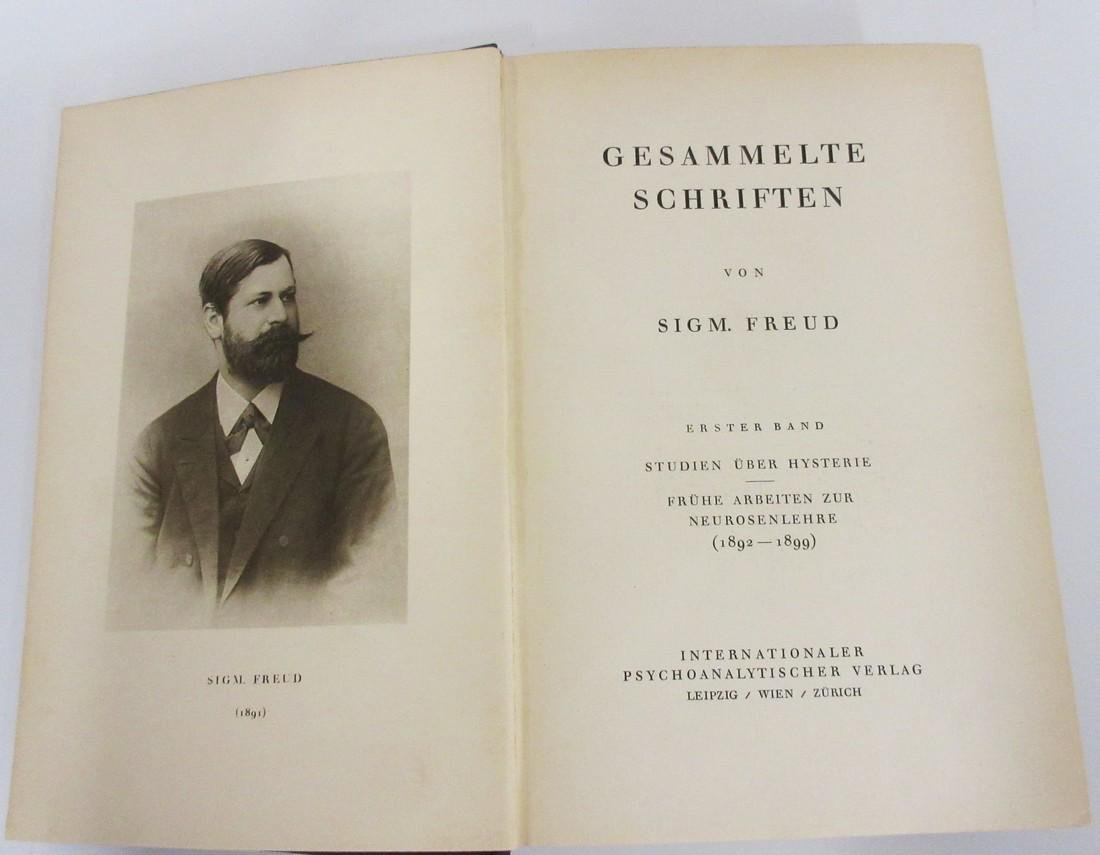Sigmund Freud Signed 1st Printing of His Collected - 5