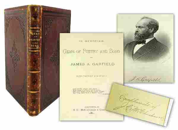 James Garfield Memorial Poems Presented to Widow