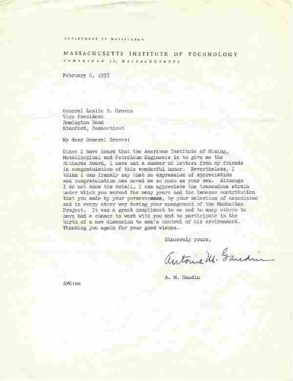 M.I.T. Professor Reflects on Manhattan Project to