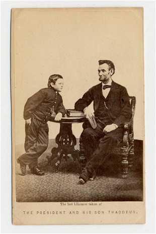 Abraham Tad Lincoln Carte De Visite After Gardner